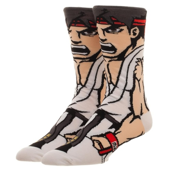 Ryu Street Fighter Character 360 Men S Socks Boutique
